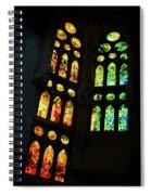 Splendid Stained Glass Windows Spiral Notebook
