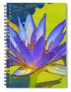 Splendid Water Lily Spiral Notebook