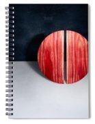 Split Circle Red Spiral Notebook