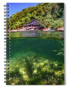Split Level Reef And Trees With Pier Spiral Notebook