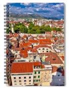 Split Old City Center Aerial View Spiral Notebook