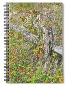 Split Rail Fence And Poison Ivy Spiral Notebook