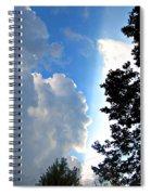 Split Sky Spiral Notebook