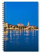 Split Waterfront Blue Hour View Spiral Notebook