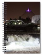 Spokane Falls Night Scene Spiral Notebook