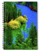 Spokane River Blues Spiral Notebook