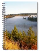 Spokane River Under A Misty Morning Blanket Spiral Notebook