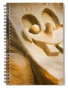 Sponge Bob Blue Water Sand Sculpture Spiral Notebook