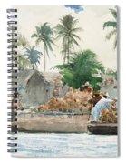 Sponge Fisherman In The Bahama Spiral Notebook