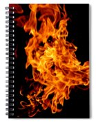 Spooky Hot Spirit Fire Michigan Spiral Notebook