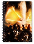 Spooky Jack-o-lantern In Darkness Spiral Notebook