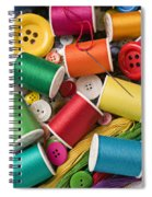 Spools Of Thread With Buttons Spiral Notebook