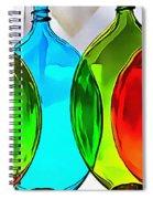 Spoon Bottles-rainbow Theme Spiral Notebook