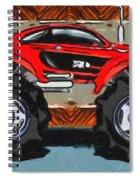 Sports Car Monster Truck Spiral Notebook