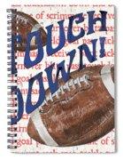 Sports Fan Football Spiral Notebook