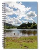 Spot The Swimming Dog In Derwnt Water Lake Spiral Notebook