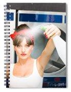 Spray Bottle Cleaner Spiral Notebook
