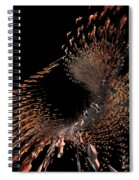 Spray Of Gold Spiral Notebook