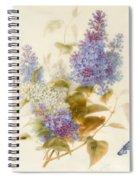 Spray Of Lilac Spiral Notebook