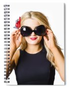 Spray Tan Girl Wearing Goggles. Tanning Beauty Spiral Notebook