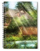 Spring - Garden - The Pool Of Hopes Spiral Notebook