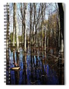 Spring At The Pond Spiral Notebook