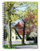 Spring Begins In The Suburbs Spiral Notebook