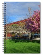Spring Bloom At Christopher Columbus Park Boston Ma Cherry Blossoms Spiral Notebook