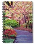 Spring Blossoms Impressions Spiral Notebook
