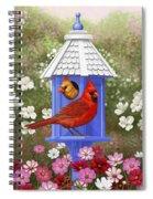 Spring Cardinals Spiral Notebook