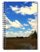 Spring Clouds Over The Marsh Spiral Notebook