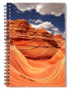 Spring Clouds Over The Wave Spiral Notebook
