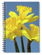 Spring Daffodil Flowers Art Prints Canvas Framed Baslee Troutman Spiral Notebook
