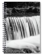 Spring Falls At Hodgson Grayscale Spiral Notebook