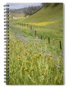 Spring Fenceline Fantasy Spiral Notebook