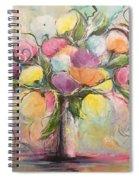 Spring Fling Flowers In A Vase Spiral Notebook
