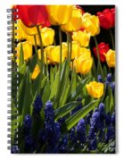 Spring Flowers Square Spiral Notebook