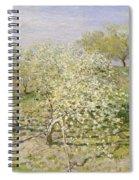 Spring. Fruit Trees In Bloom Spiral Notebook