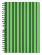 Spring Green Striped Pattern Design Spiral Notebook