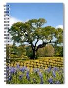 Spring In The Vineyard Spiral Notebook