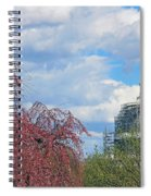 Spring In Washington And Dressed In Scaffolding Spiral Notebook