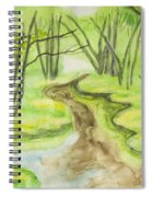 Spring Landscape, Watercolours Spiral Notebook