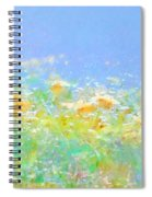 Spring Meadow Abstract Spiral Notebook