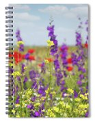 Spring Meadow With Flowers Nature Scene Spiral Notebook