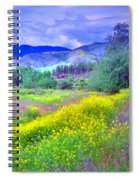Spring Morning Along The Channel Parkway Spiral Notebook