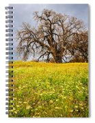 Spring Oak Tree And Wildflowers Spiral Notebook