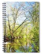 Spring On A Pennsylvania Stream, Fairmount Park, Philadelphia Spiral Notebook