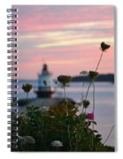 Pink Sky Flowers Spiral Notebook