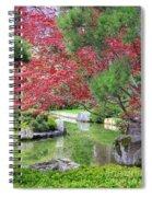 Spring Pond Reflection Spiral Notebook