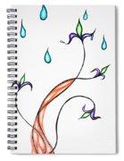 Spring Rain Spiral Notebook